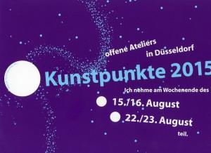 Einladungskarte Kunstpunkte 2015