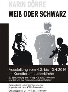 Einladung weiß oder schwarz - Karin Dörre